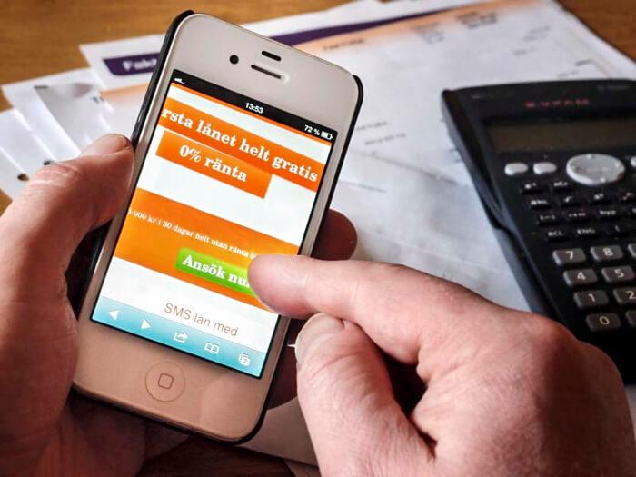SMSlån med direkt utbetalning (måndag – söndag)